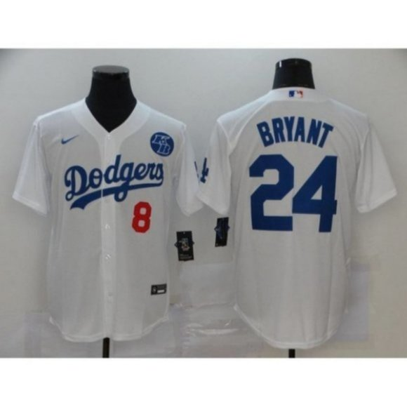 MLB Shirts | Nwt La Dodgers Kobe Bryant 8 24 White Jersey | Poshmark